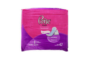 Poise Maximum Absorbency Long Pad- 42 CT