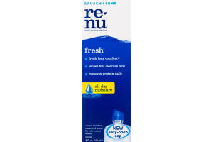 ReNu Clean, Disinfects, Rinses and Stores Soft Contact Lenses