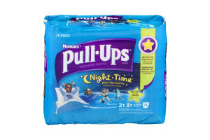 Huggies Pull-Ups Training Pants Night Time Glow In The Dark Size 2T-3T - 24 CT