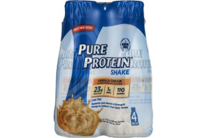 Pure Protein Shake Vanilla Cream Bottles - 4 CT