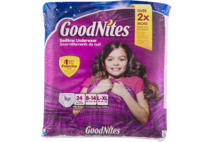 GoodNites Bedtime Underwear Girls L/XL - 24 CT