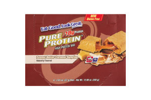 Pure Protein High Protein Bar Peanut Butter Caramel Surprise - 6 CT