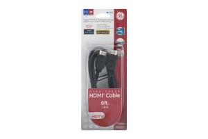 GE High-Speed HDMI Cable 6ft.