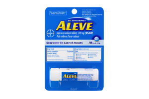 Aleve Pain Reliever/Fever Reducer Tablets - 10 CT