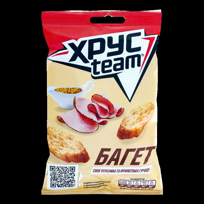Багет ХРУСteam зі смаком буженини та франц гірчиці 60г