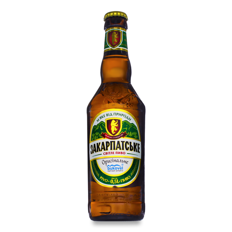 Пиво Перша приватна броварняЗакарпатське ориг світ 0.5л
