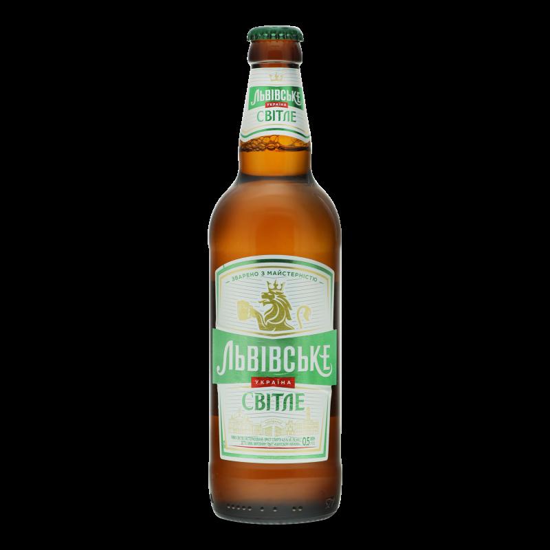 Пиво Львівське світле 0.5л
