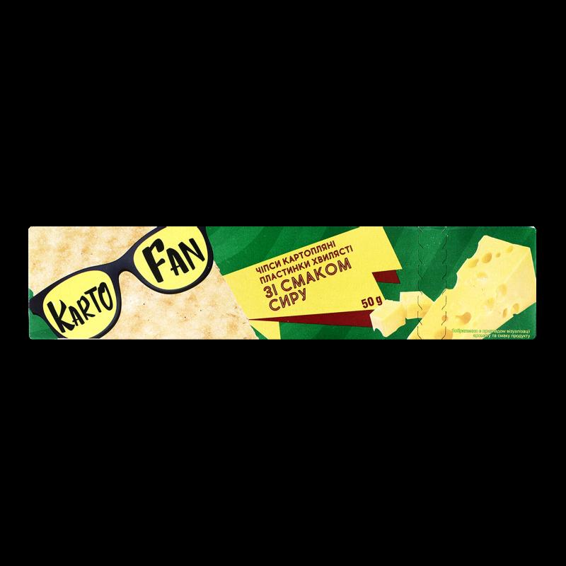 Чіпси KartoFun картопл пластин хвилясті смак сиру 50г