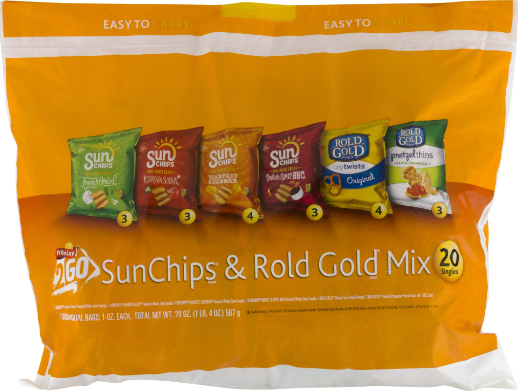 FritoLay 2 Go SunChips & Rold Gold Mix - 20 Ct Frito Lay 2 Go ...