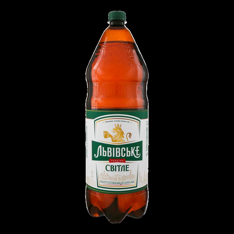 Пиво Львівське світле 2.4л