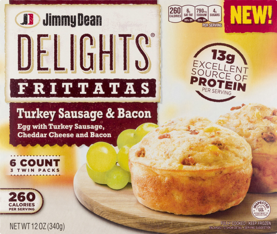 Jimmy Dean Delights Frittatas Turkey Sausage Bacon 6 Ct Jimmy