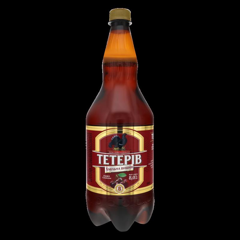 Пиво Тетерів Хмільна вишня напівтемне 1.2л