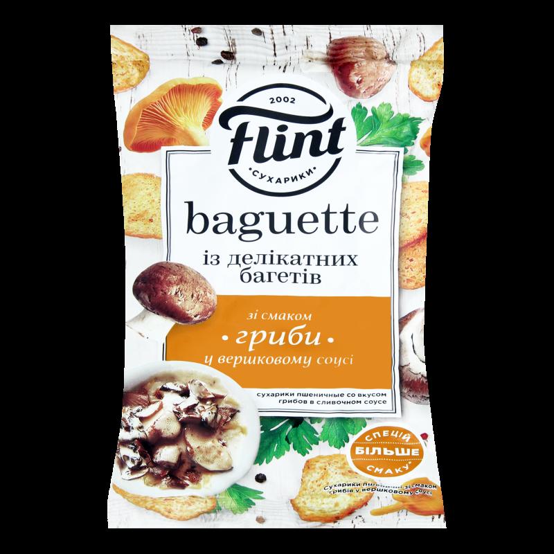 Сухарики Flint Baguette смак грибів в вершк соусі 60г