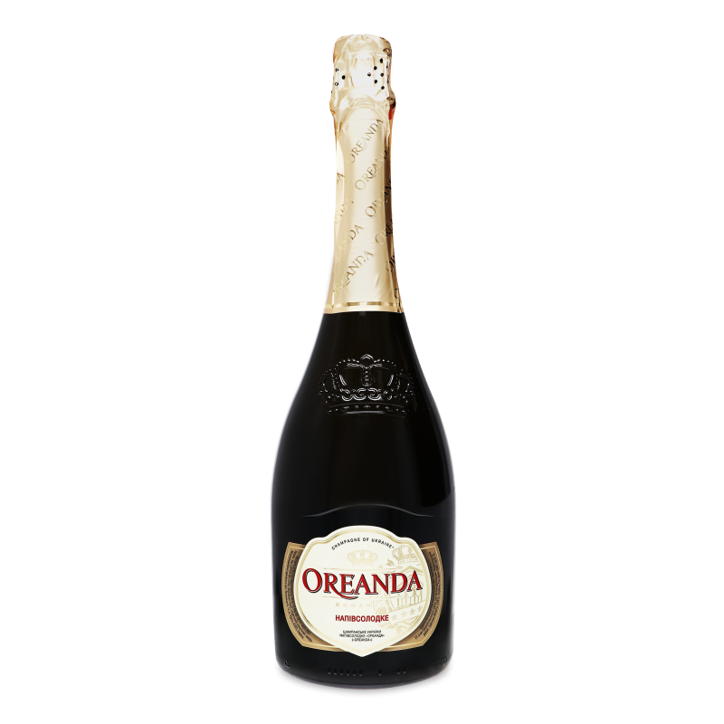 Шампанське Ореанда біле напівсолодке 0.75л