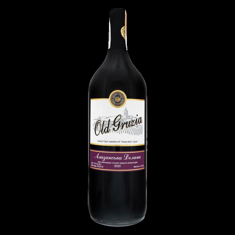 Вино Old Gruzia Алазанська Долина червоне н/солод 1.5л