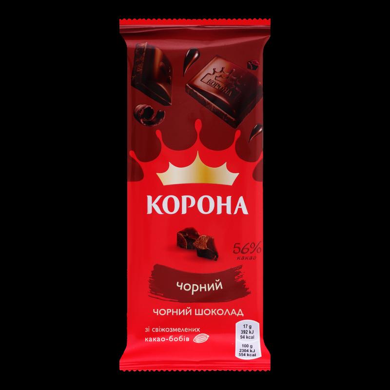 Шоколад чорний Корона без додатків 85г
