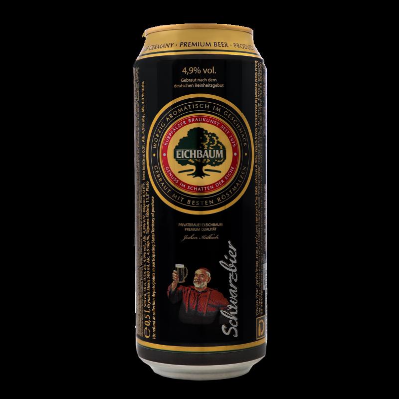 Пиво Eichbaum Premium Schwarzbier темне з/б 0.5л