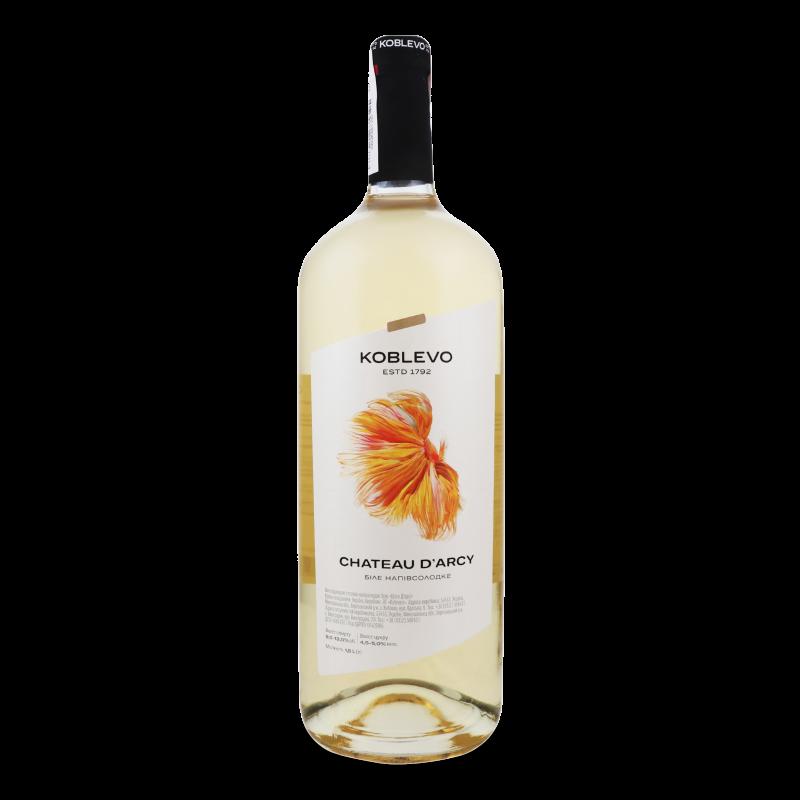 Вино Коблево Шато Д'арсі біле напівсолодке 1.5л