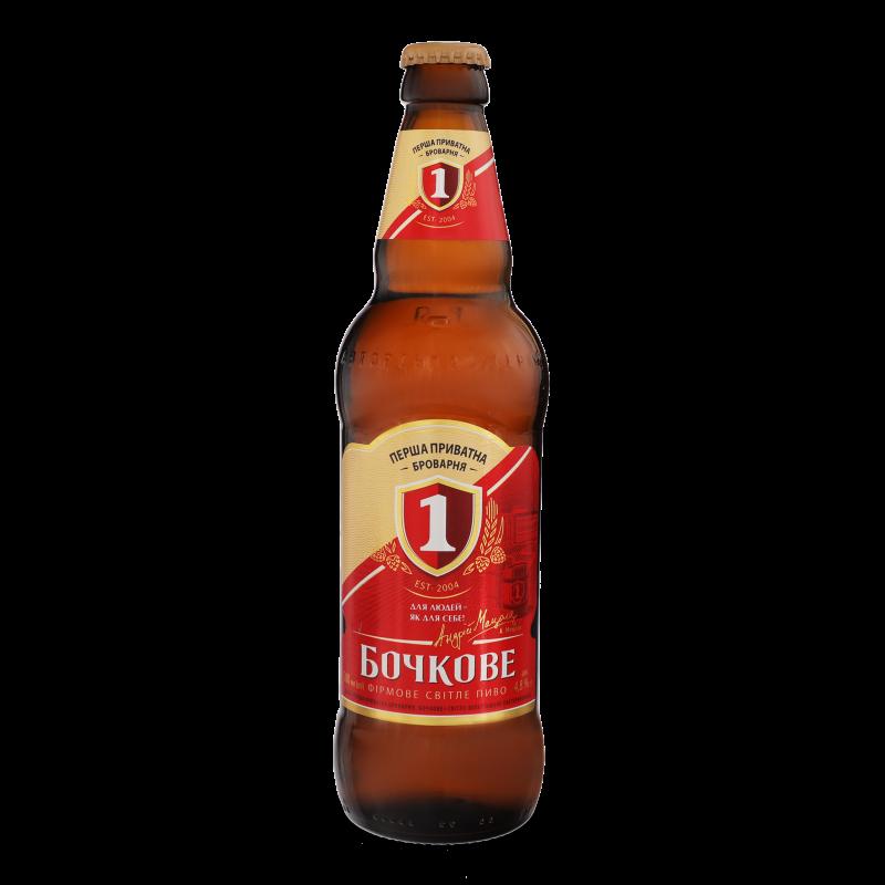 Пиво Перша приватна броварня Бочкове світле 0.5л
