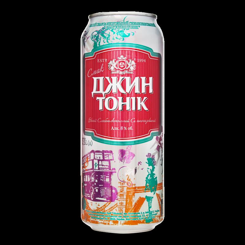 Напій слабоалкогольний Оболонь Джин-тонік з/б 0.5л