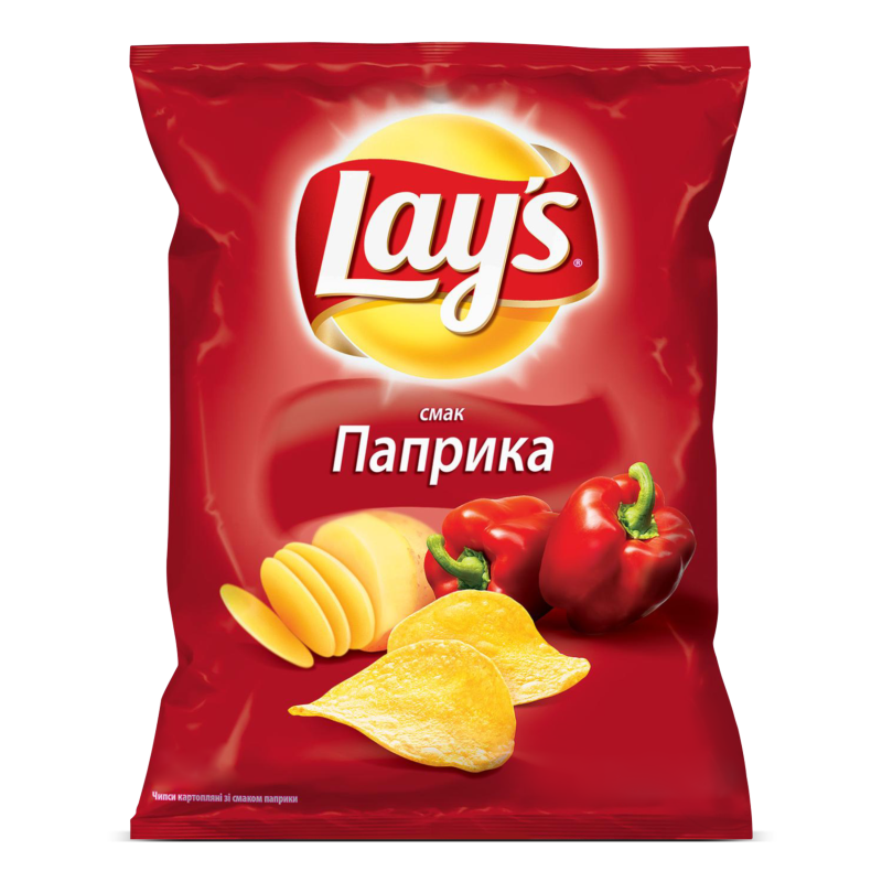 Чіпси Lay's картопляні зі смаком паприки 133г