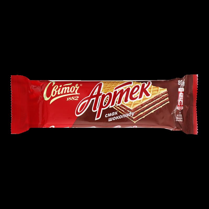 Вафлі Світоч Артек смак шоколаду 80г