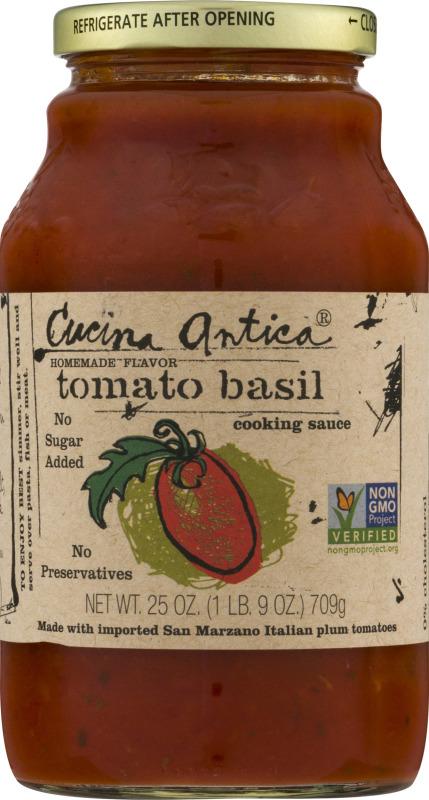 Cucina Antica Tomato Basil Cooking Sauce Cucina Antica 677294991125